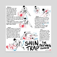 Shin Trap Guard Pass Breakdown - Canvas by Tom Ambrose
