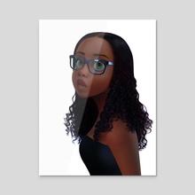 Katie - Acrylic by Art of Mervin