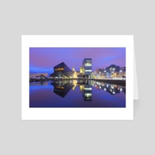 Dockland  Reflections - Art Card by Michael Walsh