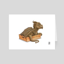 If it fits,I sits - Art Card by Lynton Levengood