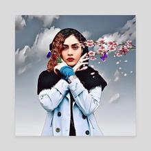 Spring Girl - Canvas by aliasghar shabani