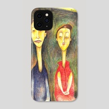 the couple - Phone Case by charles djalu