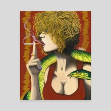 Snake Charmer - Canvas by Philip Ng