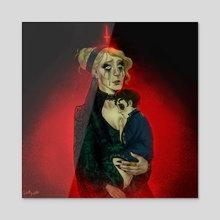 Unholy Mother - Acrylic by Lilia Kier