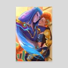 Kayn & Jinx  - Canvas by Andorah Leon