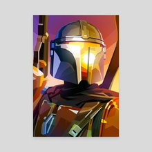 The Mandalorian - Canvas by Liam Brazier