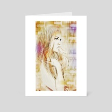 Facet Abstract Portrait - Art Card by Galen Valle