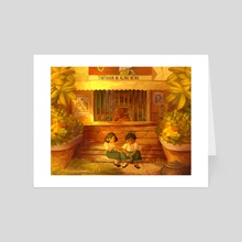 School Day Afternoons - Art Card by Tea + Chocolate