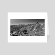 rocky mountain view over the austrian alps - Art Card by bumsable