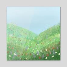 Spring Has Sprung  - Acrylic by Hope Hemenway