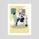 Summer Date - Art Print by Sander Berg