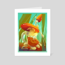 Mushrooms  - Art Card by Polina Trofimova