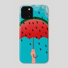 rain watermelon - Phone Case by Lucia Calfapietra