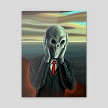 Silent Scream - Acrylic by Remus Brailoiu