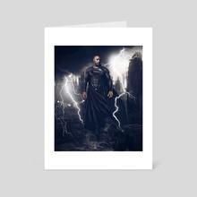 Black Superman - Art Card by Miguel  Hernandez