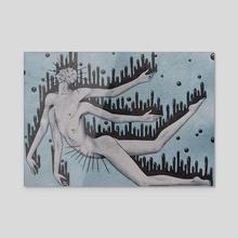 Fallen Grace  - Acrylic by Kenneth Zenz
