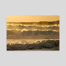 Golden waves - Canvas by fabiano caddeo