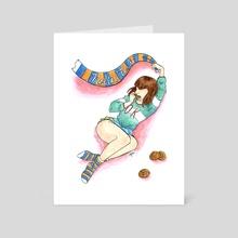 Nabiki Tendo - Art Card by Elizabeth Simins