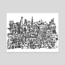 Busy City XVIII - Canvas by Scarlett Fu