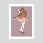 Owl Witch-Alchemist (New) - Art Print by Reimena Yee