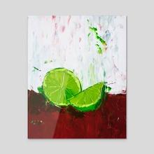 Zesting a Lime - Acrylic by Eric Buchmann
