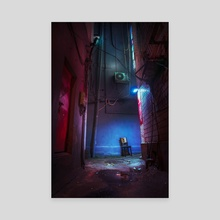 Chair in the alley - Canvas by Alberto Urra