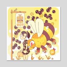 Boba, Bee, & Bean - Acrylic by Mason Dickerson