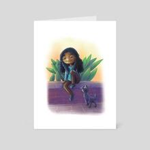 Making Friends - Art Card by Ruth Johnson
