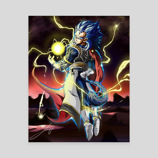 King Vegeta SSJ4 by Falco Art