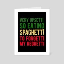 Funny Spaghetti Pasta - Art Card by Visuals Artwork