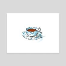 Teacup & Saucer - Canvas by Rained Away