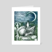 Awakening in Green Twilight - Art Card by MadiiPons