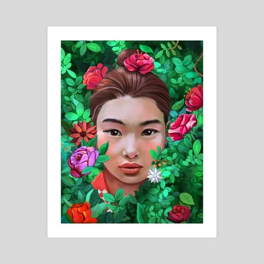 Afghan girl portrait by Ali Sadeqi