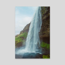 Vintage Seljalandsfoss - Acrylic by Alex Tonetti