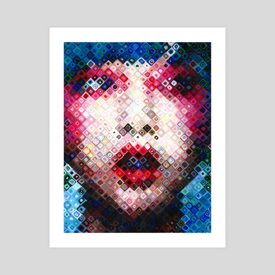 Pixelated Girl by hazel thexton