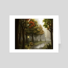 Autumn in the Park - Art Card by Kristin Kemper