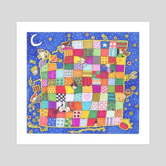 The grandma's quilt by Fatemeh Tahami