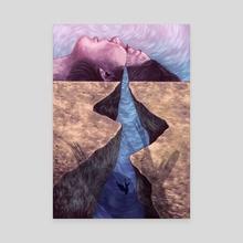 Vast mist - Canvas by Ximena Arias