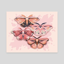 Moths are People Too - Canvas by Ash Weaver