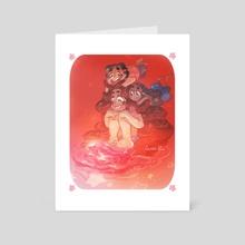 pink galaxy's shore - Art Card by cosmicloak