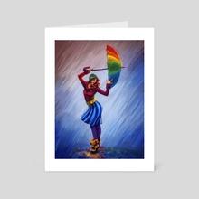 Rain Rainbow - Art Card by Emily Martin