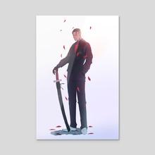 Classic demon - Acrylic by David Opoh