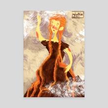 Flowing fire - Canvas by Giullia Ciotola