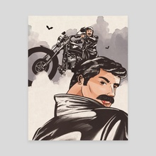 Vampire Biker - Canvas by Andres Gomez