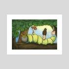 Caterpillar Joy Ride  - Art Print by Rayne  Karfonta