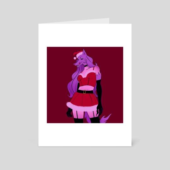 holiday wolf  by atremu