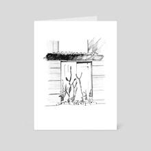 Cacti on a door - Art Card by Joana Lourenço