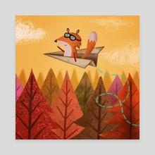 Flying Fox - Canvas by Denise Turu