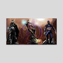 Avengers Assemble - Canvas by Shawn Norton