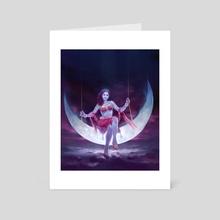 Moon Goddess - Art Card by Shyam Deshpande